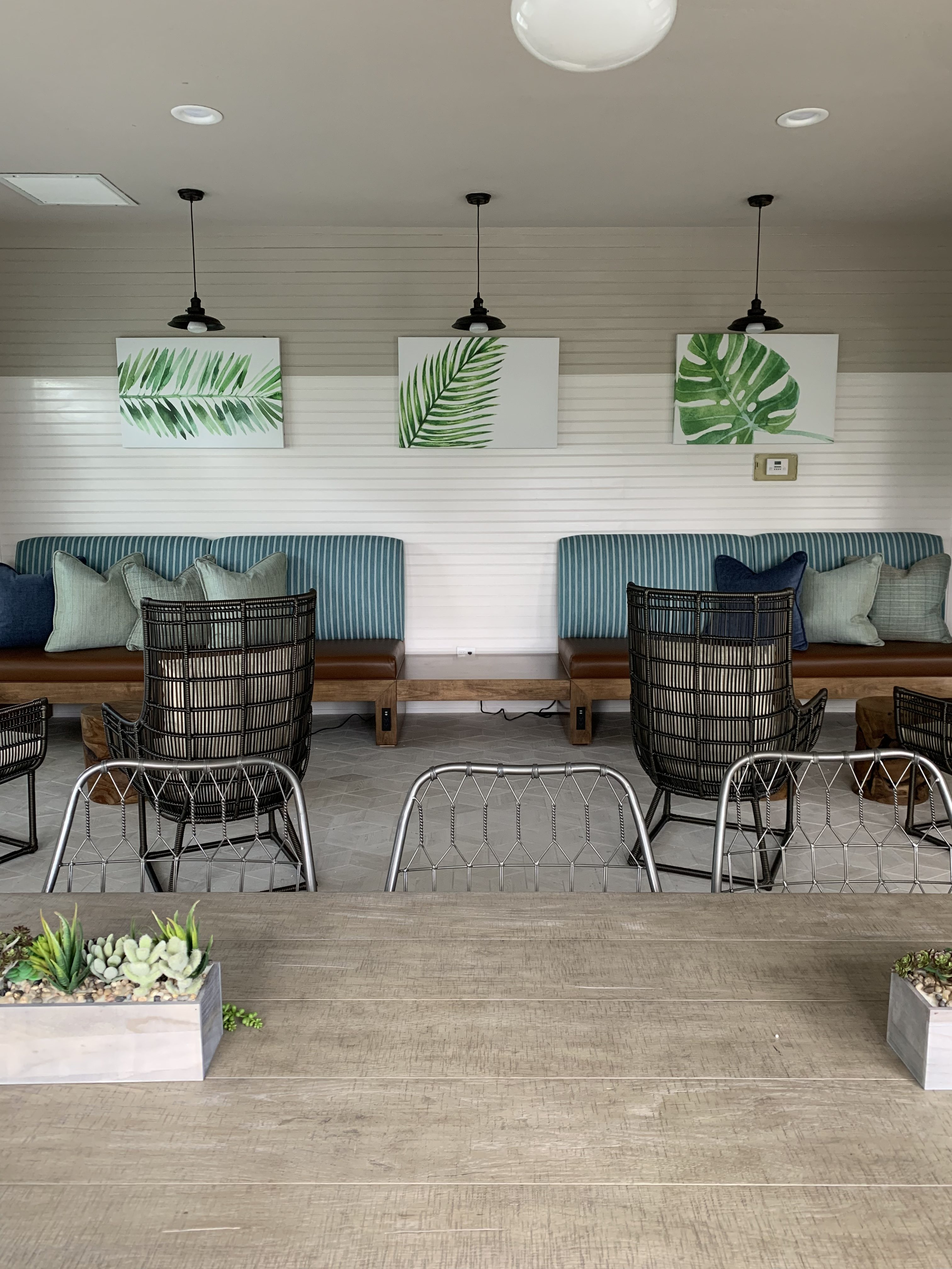 Banquette Installation Commercial - JRW Custom